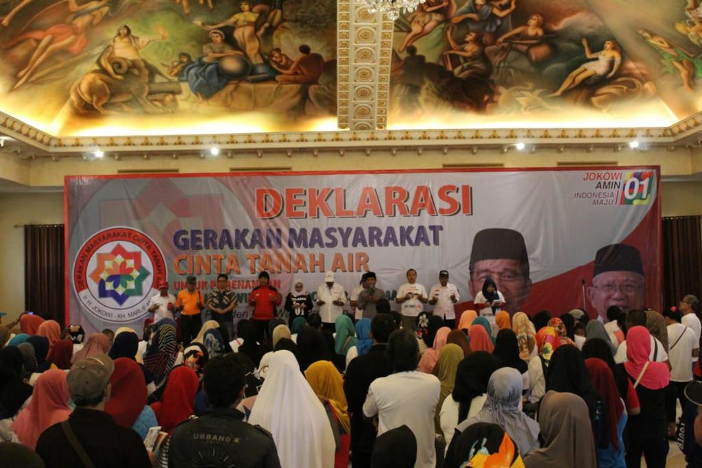Dukung Jokowi-KH. Ma'ruf Amin, Masyarakat Gunung Putri Bersatu Yakin menang di Bogor